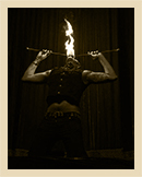 woman swallowing fire